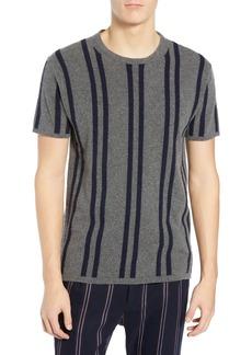 Scotch & Soda Stripe Wool & Cashmere T-Shirt