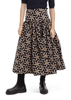Scotch & Soda Voluminous Tiered Midi Skirt