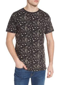 Scotch & Soda Washed Rocker Print T-Shirt