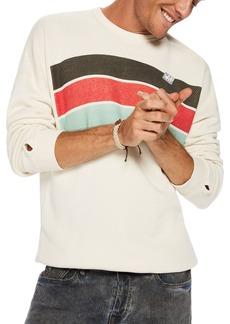 Scotch & Soda Washed Striped Crewneck Sweatshirt