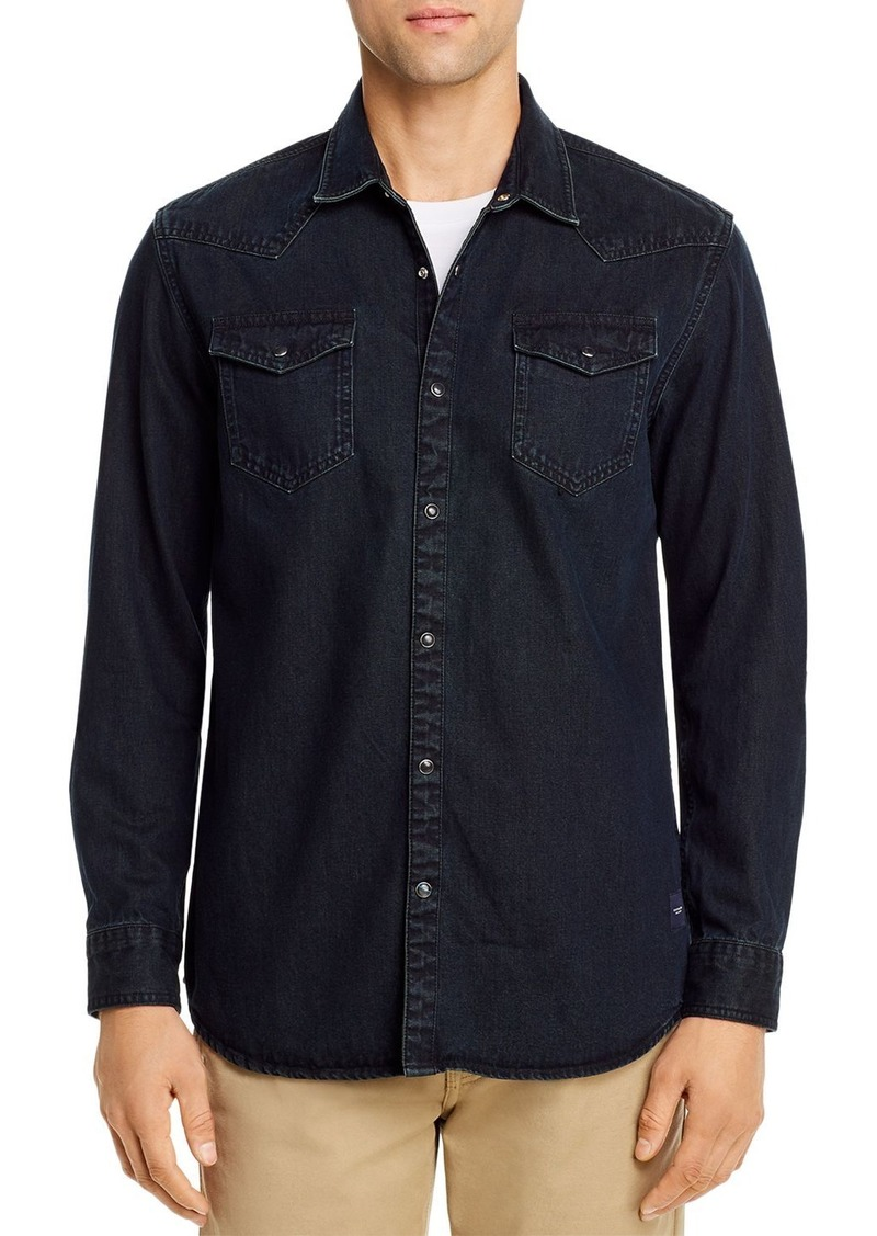 Scotch & Soda Western-Style Regular Fit Denim Shirt