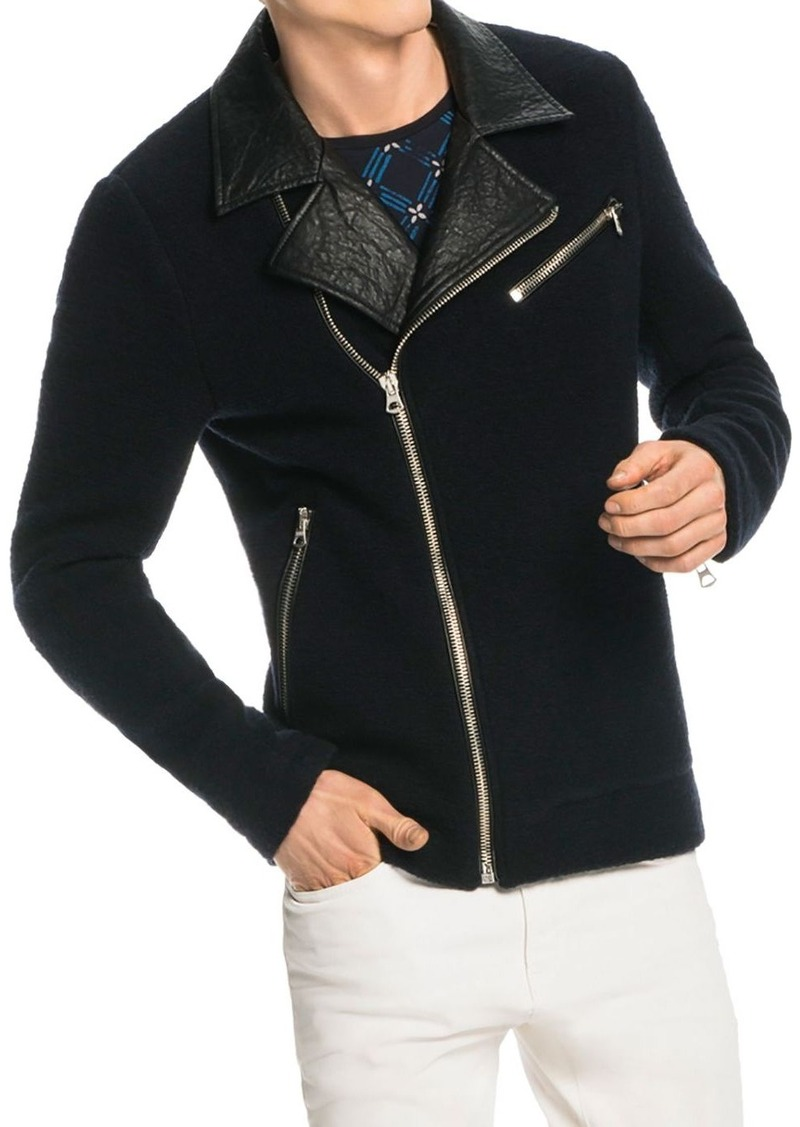 Scotch & Soda Wool Blend Biker Jacket