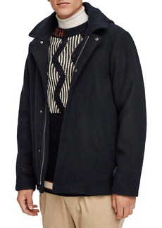 Scotch & Soda Wool Hooded Jacket