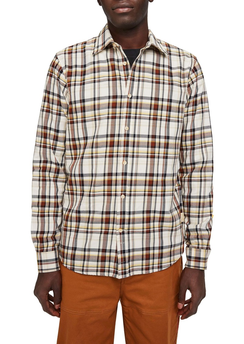 Scotch & Soda Worker Slim Fit Plaid Button-Up Shirt