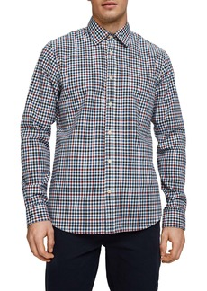 Scotch & Soda Worker Slim Fit Plaid Button-Up Shirt