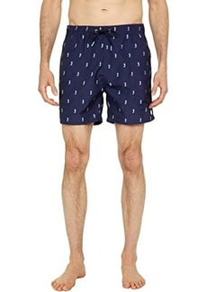 Scotch & Soda Short Length - Recycled Polyester All Over Printed Swimshorts