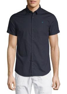 Scotch & Soda Short-Sleeve Cotton Button-Down Shirt