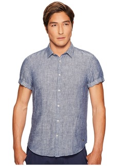 Scotch & Soda Short Sleeve Shirt in Structured Linen Quality