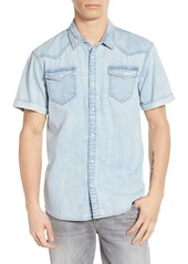 Scotch & Soda Short Sleeve Snap-Up Denim Shirt