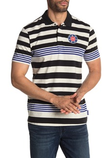 Scotch & Soda Short Sleeve Stripe Print Polo