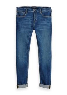 Scotch & Soda Skim Lucky Blauw Dark Skinny Fit Jeans