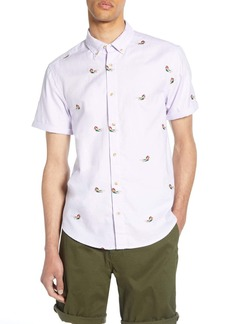 Scotch & Soda Slim Fit Embroidered Woven Shirt