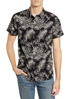 Scotch & Soda Slim Fit Floral Short Sleeve Button-Up Shirt