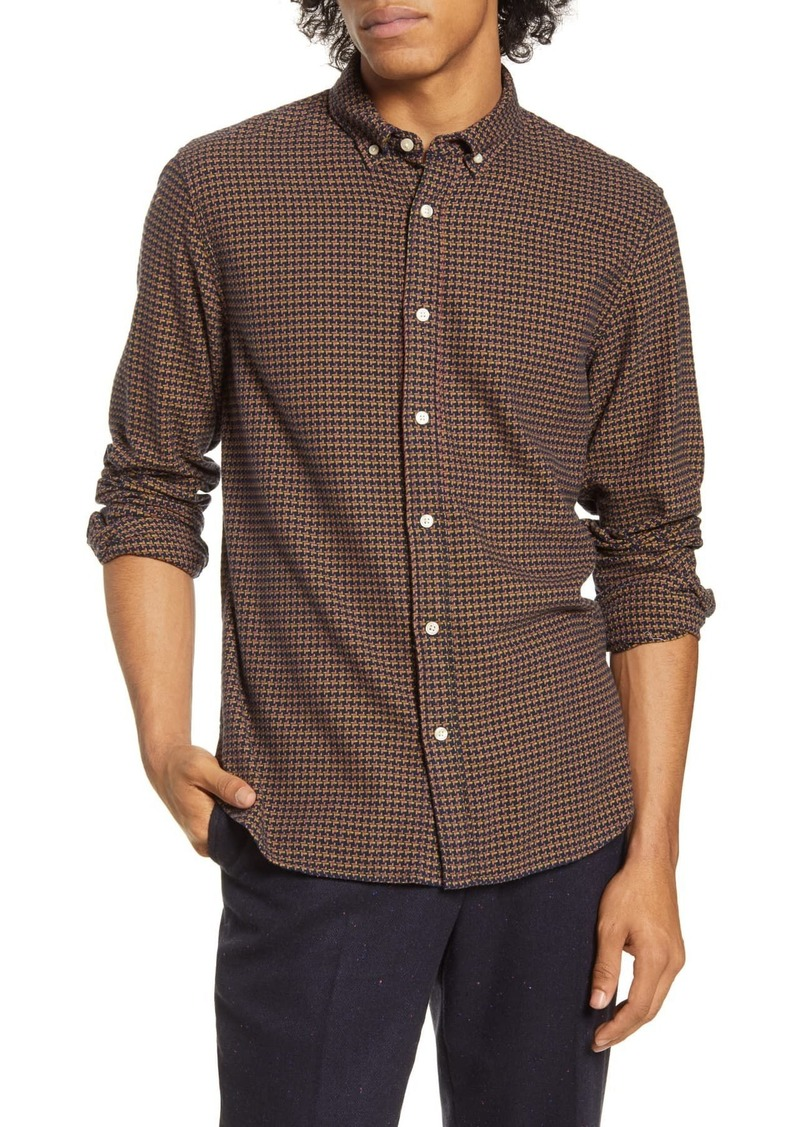 Scotch & Soda Slim Fit Print Button-Down Shirt