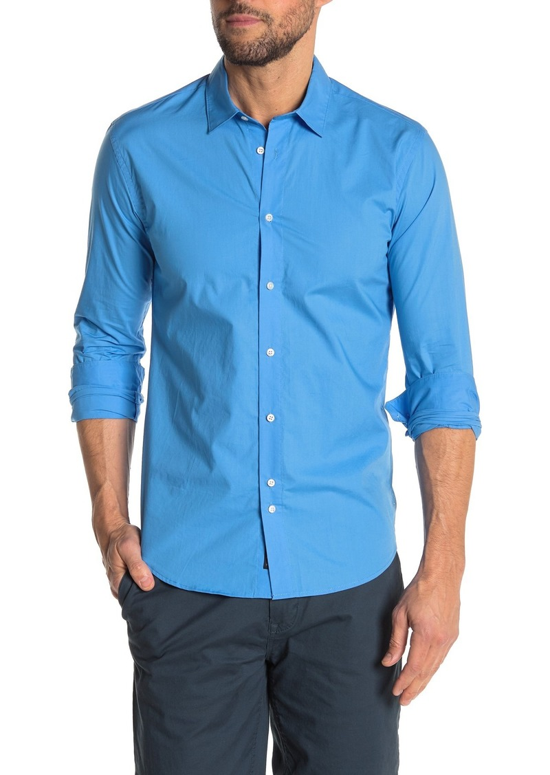 Scotch & Soda Slim Fit Solid Shirt