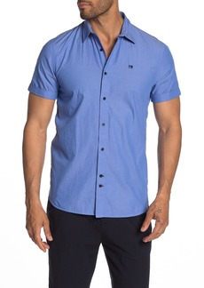 Scotch & Soda Solid Short Sleeve Regular Fit Shirt