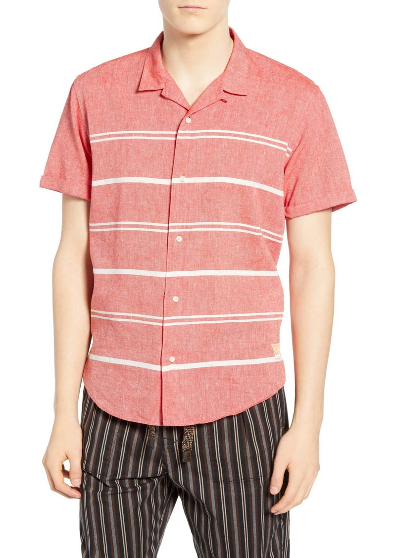 Scotch & Soda Stripe Camp Shirt
