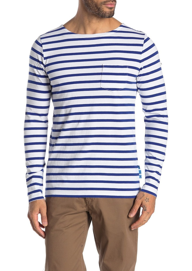 Scotch & Soda Stripe Crew Neck Pullover