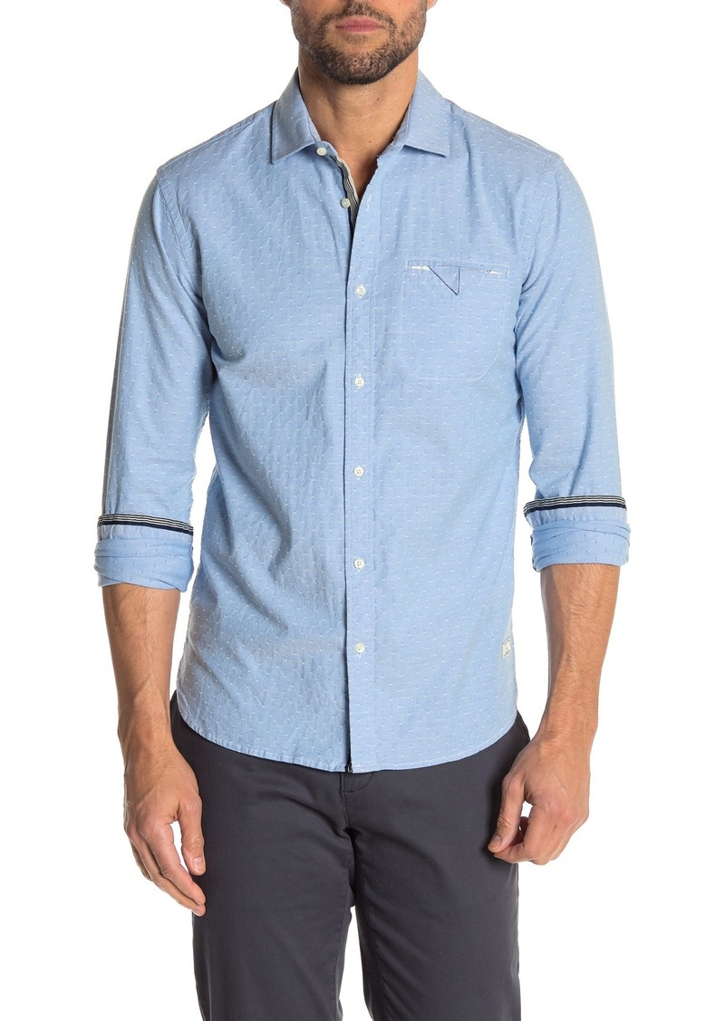 Scotch & Soda Stripe Print Oxford Slim Fit Shirt