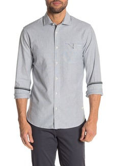 Scotch & Soda Stripe Print Oxford Slim Fit Shirt