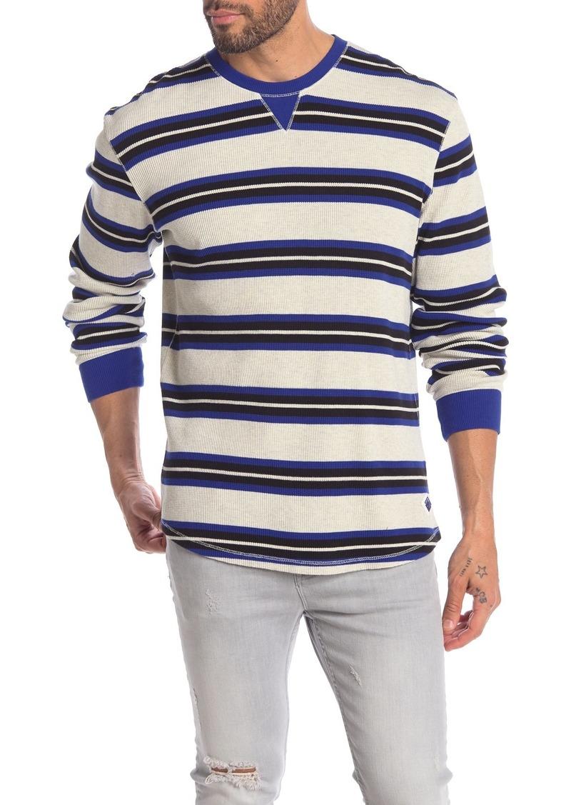 Scotch & Soda Stripe Print Waffle Knit T-Shirt