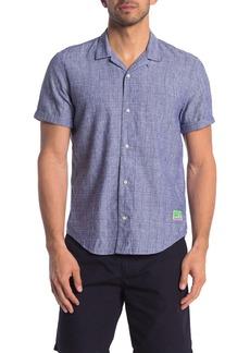 Scotch & Soda Stripe Slim Fit Camp Shirt