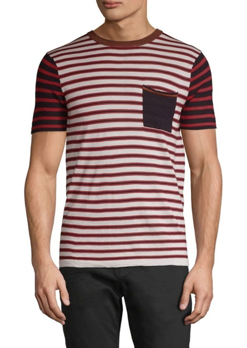 Scotch & Soda Striped Merino Wool Tee