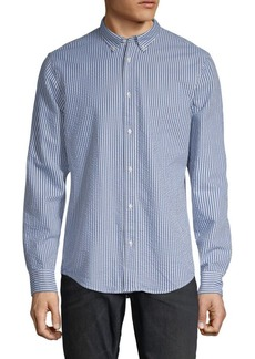 Scotch & Soda Striped Relaxed-Fit Cotton Button-Down Shirt