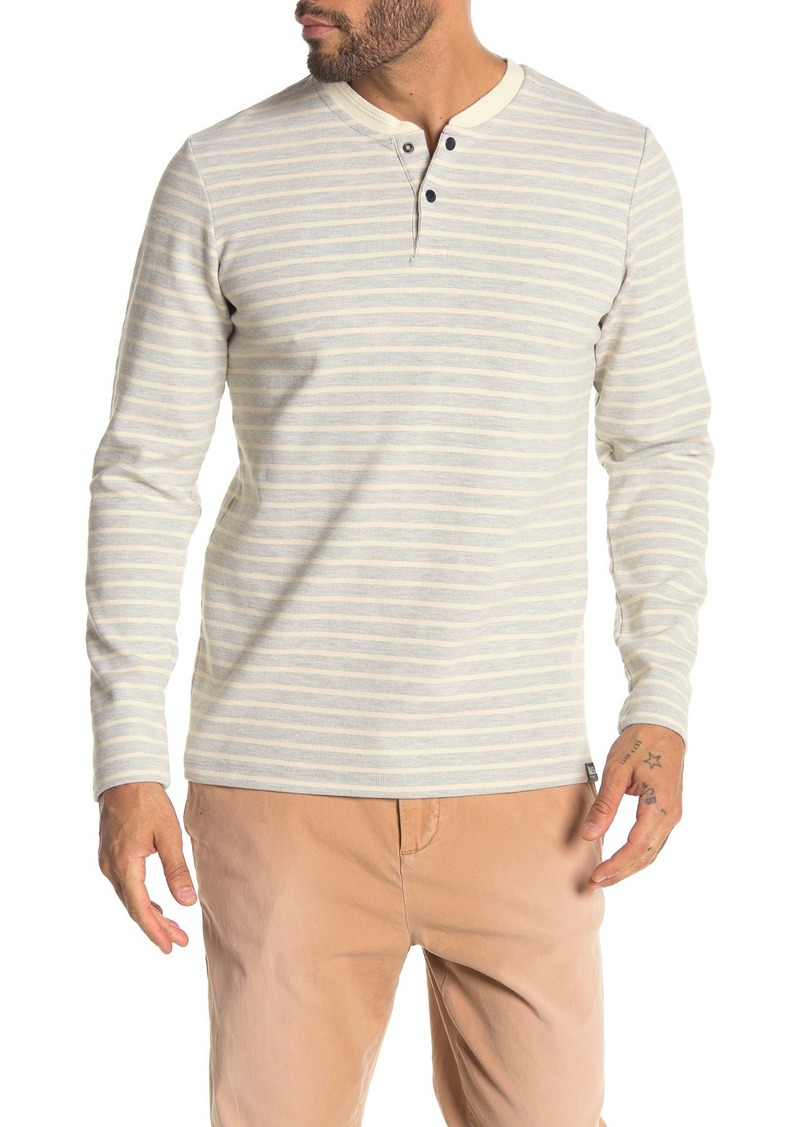 Scotch & Soda Striped Thermal Long Sleeve Henley