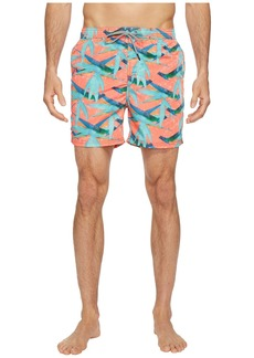 Scotch & Soda Swim Shorts in Polyester Quality with All Over Print and Contrast Inside Waistband