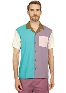 Scotch & Soda Tencel' Blend Short Sleeve Color-Block Shirt