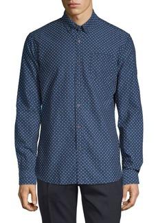 Scotch & Soda Textured Cotton Button-Down Shirt