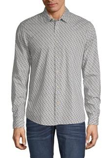 Scotch & Soda Tree Cotton Button-Down Shirt