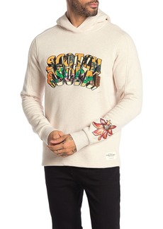 Scotch & Soda Tropical Embroidered Fleece Lined Pullover Hoodie