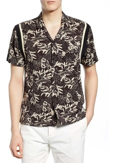 Scotch & Soda Tropical Print Camp Shirt