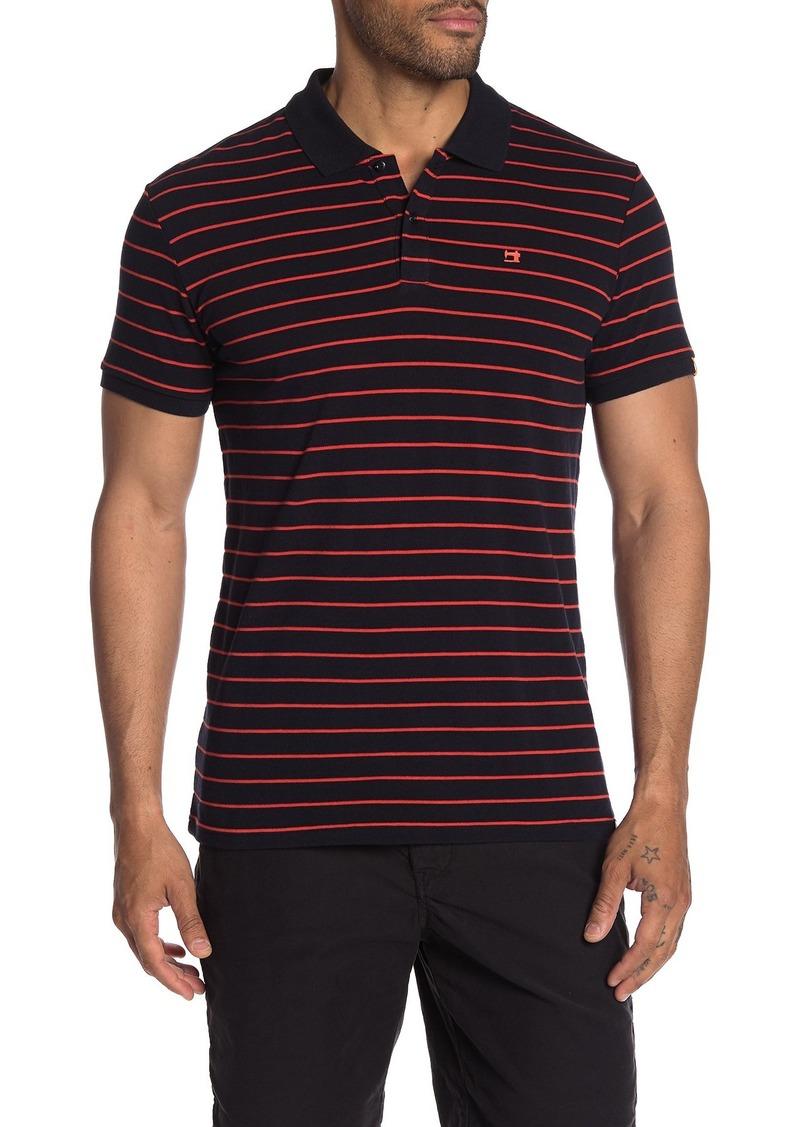 Scotch & Soda Structure Striped Pique Polo Shirt