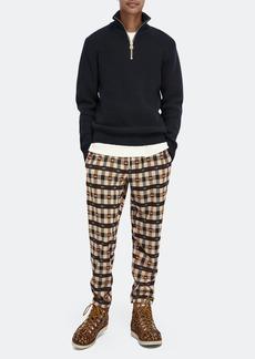 Scotch & Soda Wool-Blend Rib Knit Half-Zip Long Sleeve Sweater - L - Also in: M, XL, S