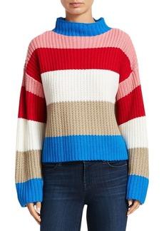 Scripted Wide Stripe Sweater
