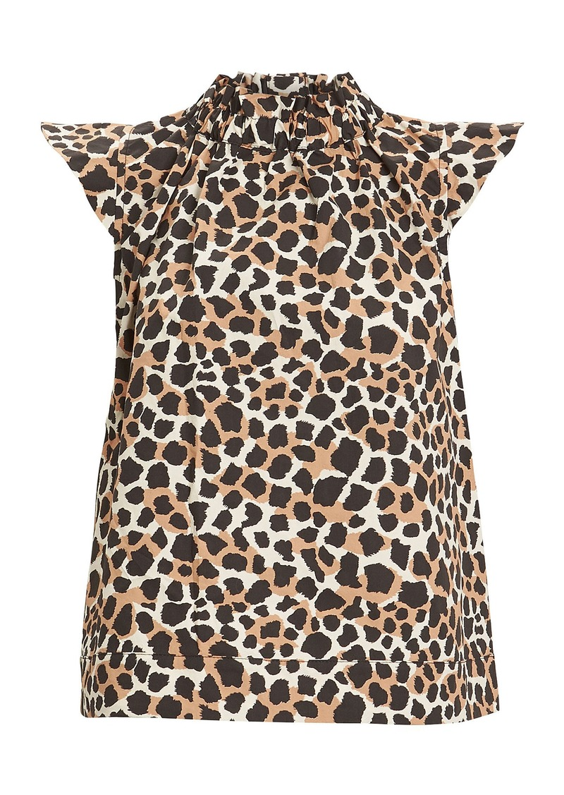 Sea Apollo Cheetah Print Cotton Top