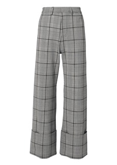 Sea Bacall Plaid Cuff Trousers