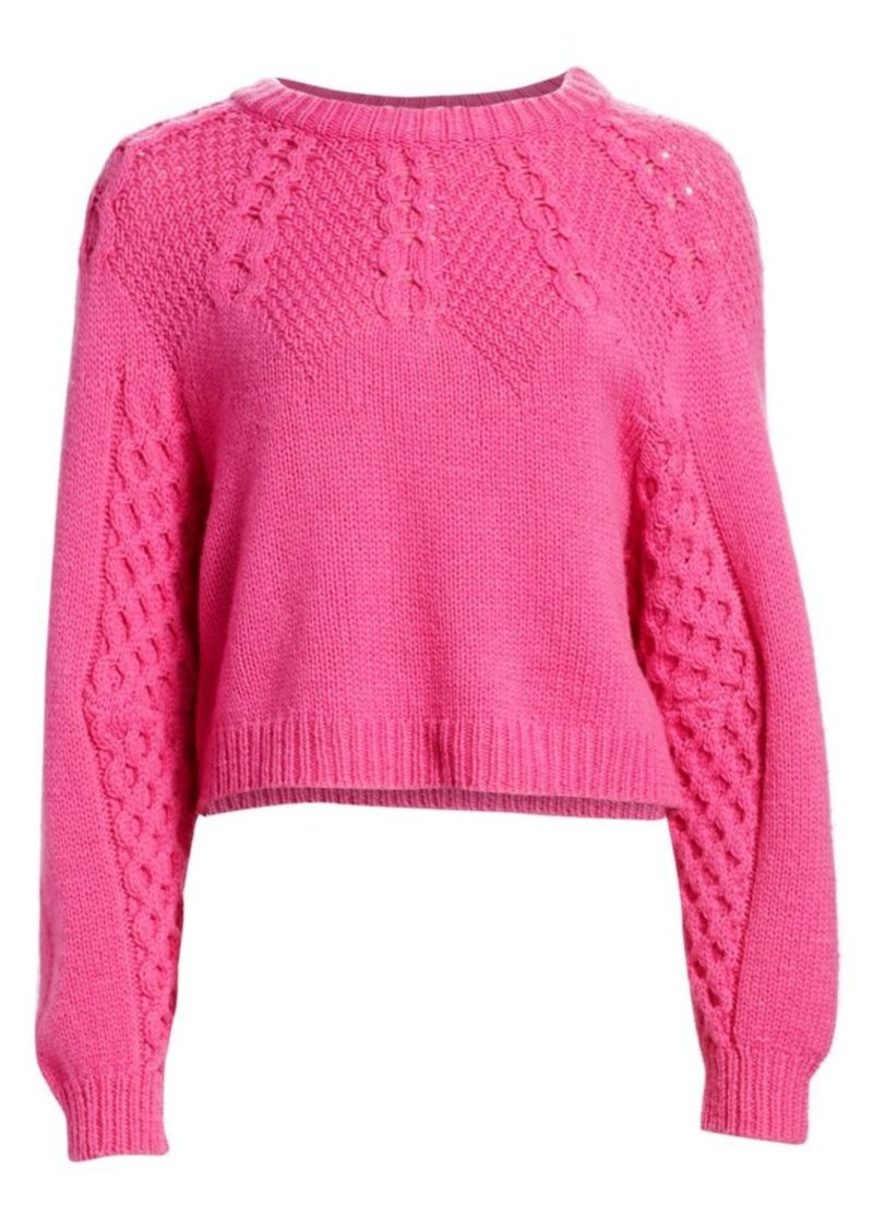 Sea Brie Textured Crewneck Sweater