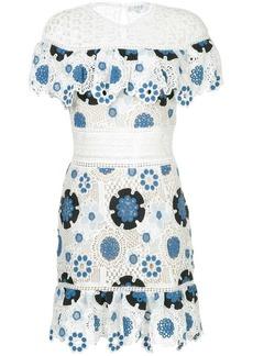 Sea crochet floral dress