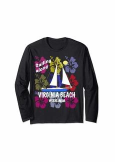 Sea Hibiscus Sailing Virginia Beach Virginia beach tee shirt