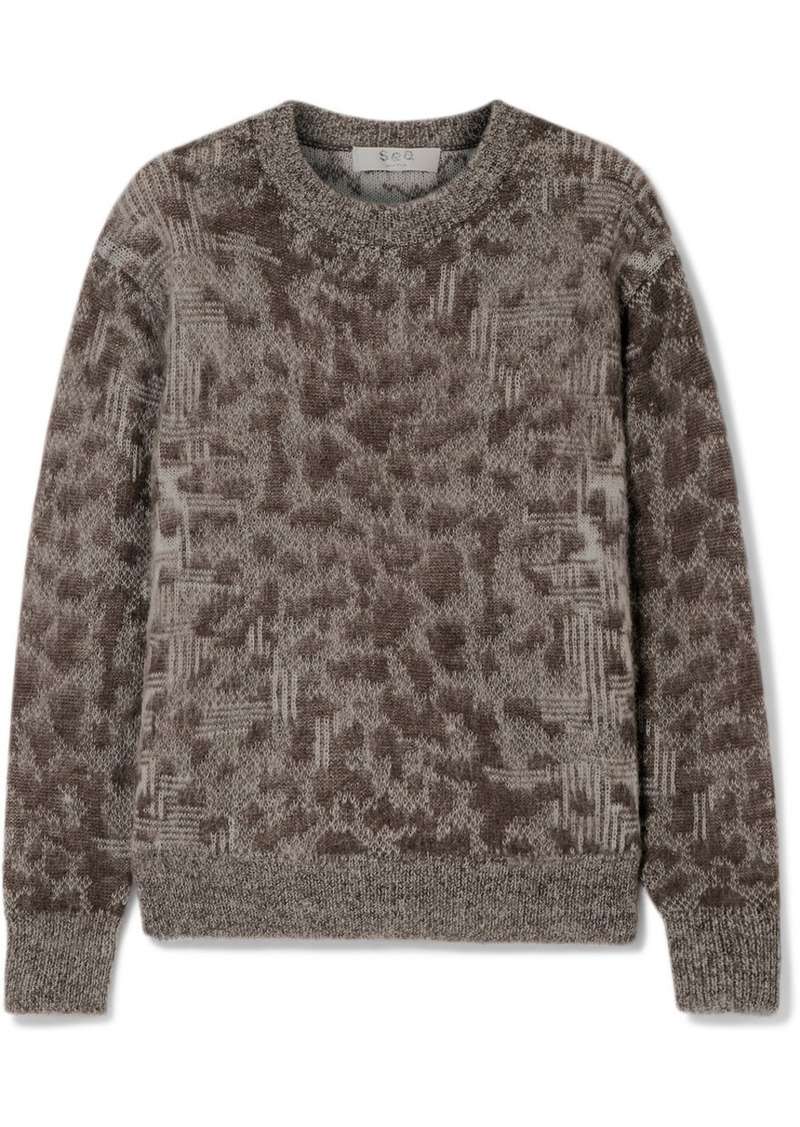 Sea Jacquard-knit Sweater