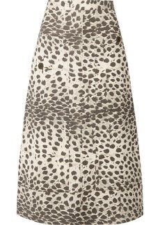 Sea Leopard-print Cotton-canvas Midi Skirt