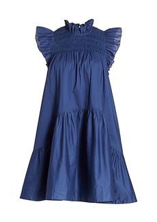 Sea Marlene Smocked Yoke Babydoll Dress