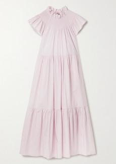 Sea Marlene Tiered Cotton-blend Poplin Midi Dress