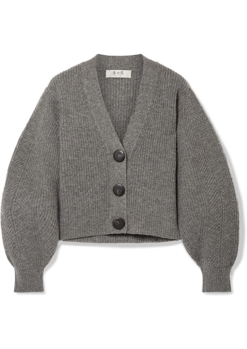 Sea Nellie Ribbed Wool Cardigan