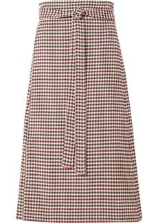 Sea Petra Checked Woven Wrap Skirt