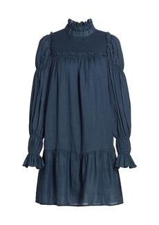 Sea Poet-Sleeve Ruffled Mini Dress
